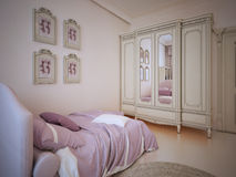 Tendenza di lusso della camera da letto del bambino illustrazione vettoriale