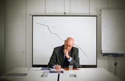 Tendenza negativa Immagine Stock
