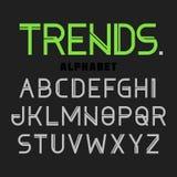 Tendenze della fonte moderna, alfabeto Fotografie Stock