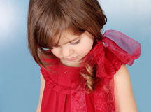 Tender And Shy Little Girl Stock Images