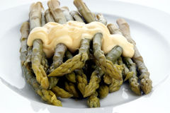 Tender asparagus with sause hollandaise Stock Photography