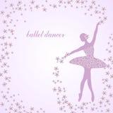 Tender ballerina with flowers Stock Image