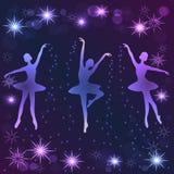 Tender ballerinas on dark background. Royalty Free Stock Images