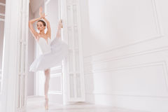 Tender ballet dancer looking aside Royalty Free Stock Photography