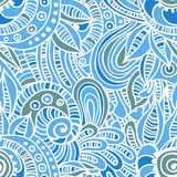 Tender blue quaint seamess pattern Stock Photography