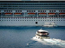 Tender boat Royalty Free Stock Images