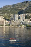 Tender boats to Monte-Carlo, the Principality of Monaco, Western Europe on the Mediterranean Sea Royalty Free Stock Photo