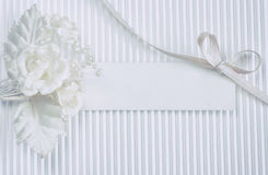 Tender boutonniere, blank tag stock photo