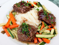 Tender braised beef short ribs Royalty Free Stock Photography