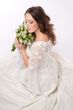 Tender bride Royalty Free Stock Image