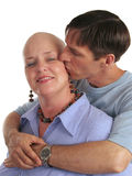 Tender Care. A woman undergoing chemotherapy and her supportive, loving husband Stock Photos