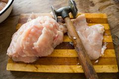 Tender chicken raw fillet Royalty Free Stock Photo
