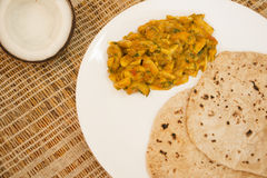 Tender coconut and cashew sukke is a vegetarian dish from Goa, India Stock Image