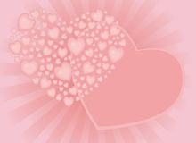 Tender congratulations with heart Royalty Free Stock Image