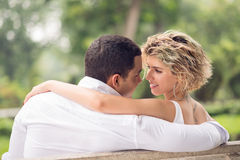 Tender conversation Stock Images
