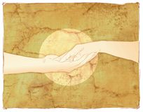 Tender couple holding hands Royalty Free Stock Images