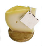 Tender Cow Cheese, traditional product of rural Basque country. Royalty Free Stock Photos