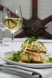 Tender crab cakes Stock Images