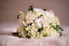 Tender cute bridal bunch Royalty Free Stock Photo