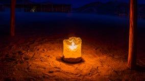 Tender desert night royalty free stock photography
