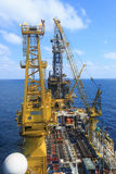 Tender Drilling Oil Rig Royalty Free Stock Photos
