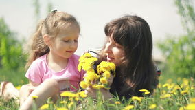 Tender feelings mom and child stock footage