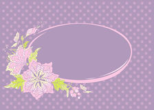 Tender floral frame. On abstract background Stock Photography