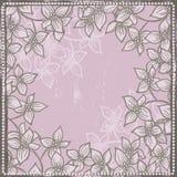 Tender floral frame Stock Image