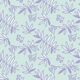 Tender floral motif vector illustration. Tropical leaves seamless pattern on white background. hand drawn naive style natural design Royalty Free Stock Images