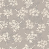 Tender floral seamless pattern. All objects are conveniently grouped  and are easily editable Stock Photography