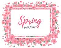 Tender Floral summer or spring frame template Stock Image