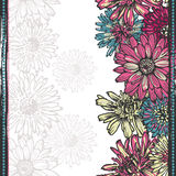 Tender floral vertical seamless border. All objects are conveniently grouped  and are easily Stock Photography