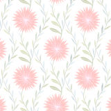 Tender Flower Pattern on White Background Royalty Free Stock Photography