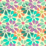 Tender flowers on a light background seamless pattern Stock Photo
