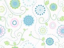 Tender Flowers Textile Seamless Pattern Royalty Free Stock Photos