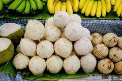 Tender and Fresh Coconut in the market Royalty Free Stock Images