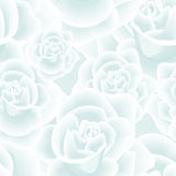 Tender Frozen Roses Seamless Background Stock Images