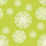 Tender geometric style dandelion flowers seamless pattern. Stock Photos