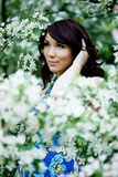 Tender girl in the garden Royalty Free Stock Photo