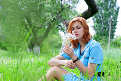 Tender girl in nature Royalty Free Stock Image