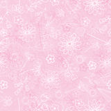 Tender and graceful background with hand flowers. Pattern in light pink tones for greeting card, banners Stock Images