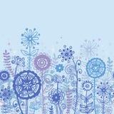Horizontal floral seamles pattern Royalty Free Stock Photo