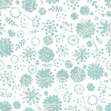 Tender flowers seamless pattern Stock Image