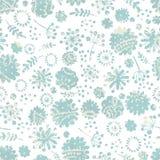 Tender flowers seamless pattern Stock Image