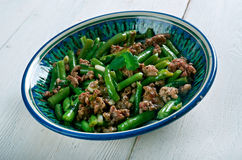 Tender Green Beans with Meat Stock Images