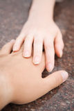 Tender hands Royalty Free Stock Photography