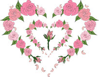A tender heart of roses, wedding Stock Image