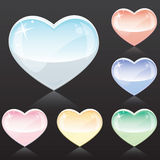 Tender Hearts. Love web icons set in tender colors Stock Image