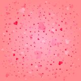 Tender hearts background for Valentine`s day card vector illustration