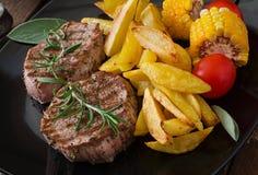 Tender and juicy veal steak Stock Photos